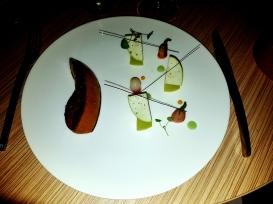 Foie Gras Poelé, Pommes acides et rape de poivre Timut