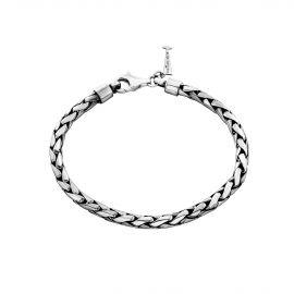 Bracelet maille tressée ronde